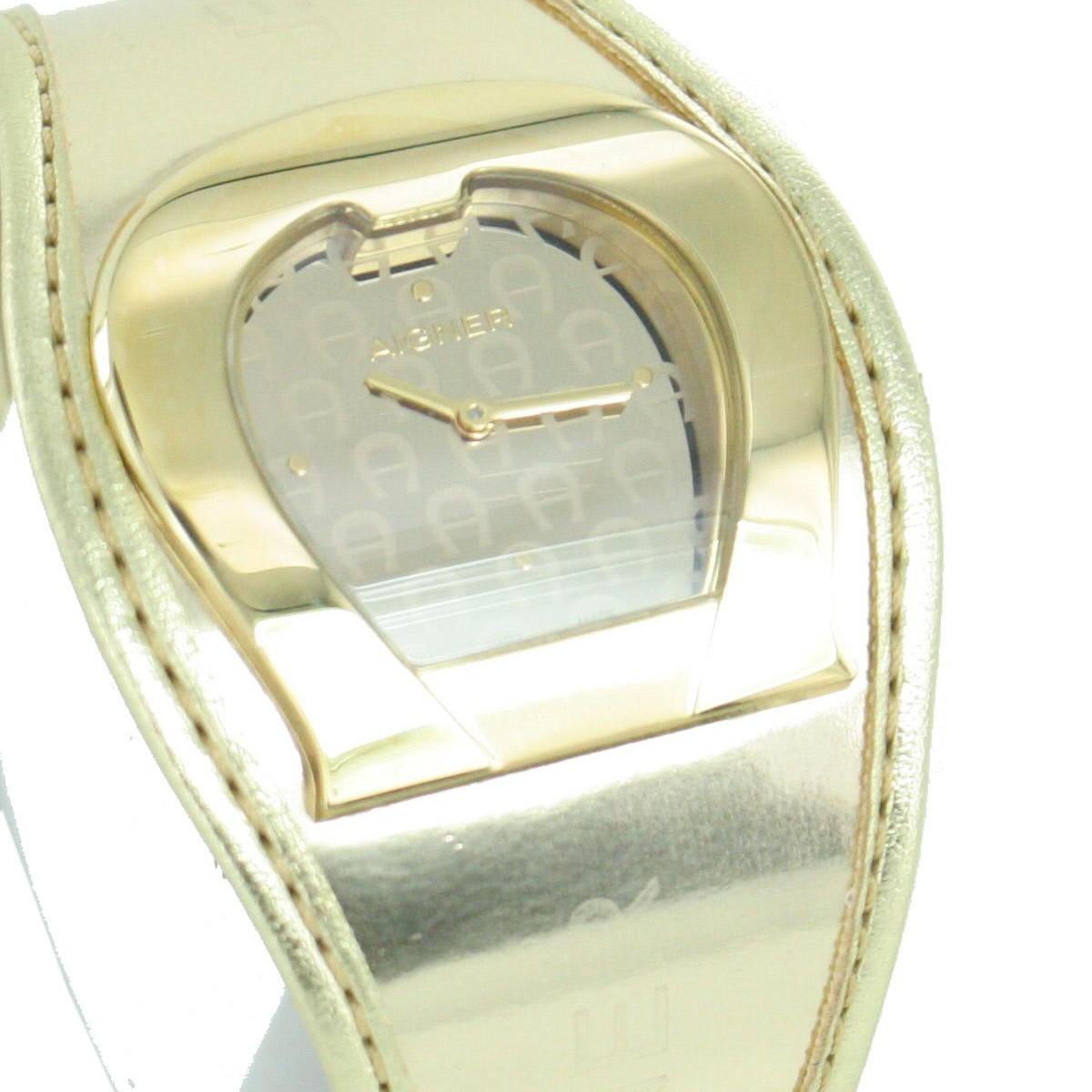 aigner damen uhr armbanduhr lederband goldfarben a41213. Black Bedroom Furniture Sets. Home Design Ideas