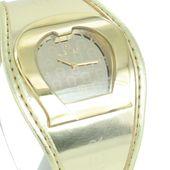 Aigner Damen Uhr Armbanduhr Lederband goldfarben A41213