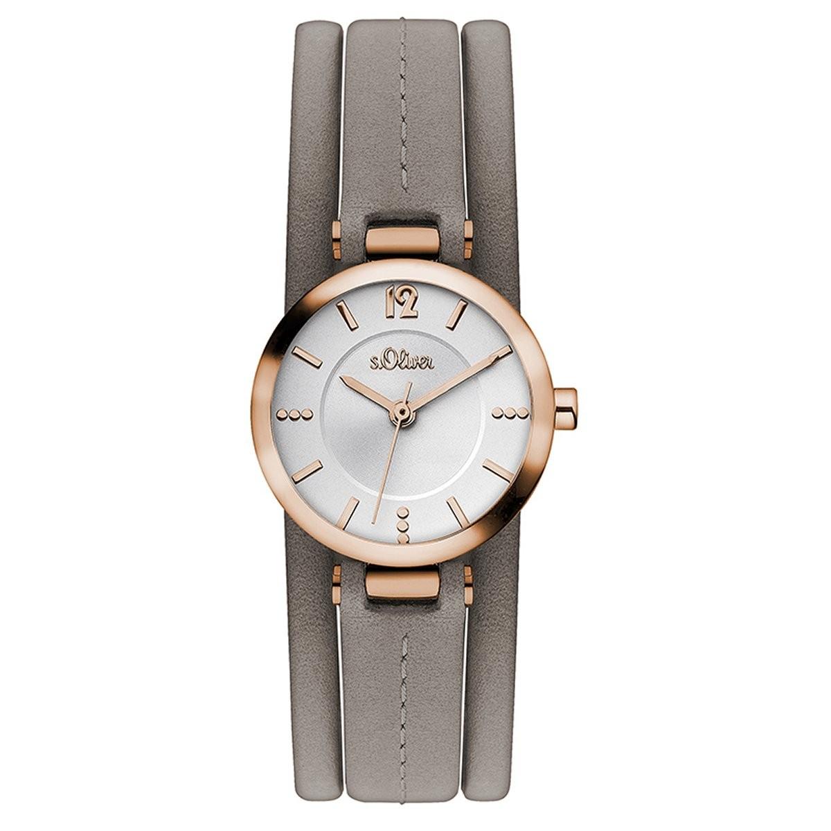 s.Oliver Damen Uhr Armbanduhr Edelstahl SO-3597-MQ