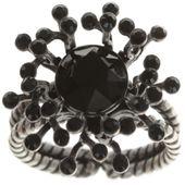 Konplott Ring Petit Four de Fleur black silber