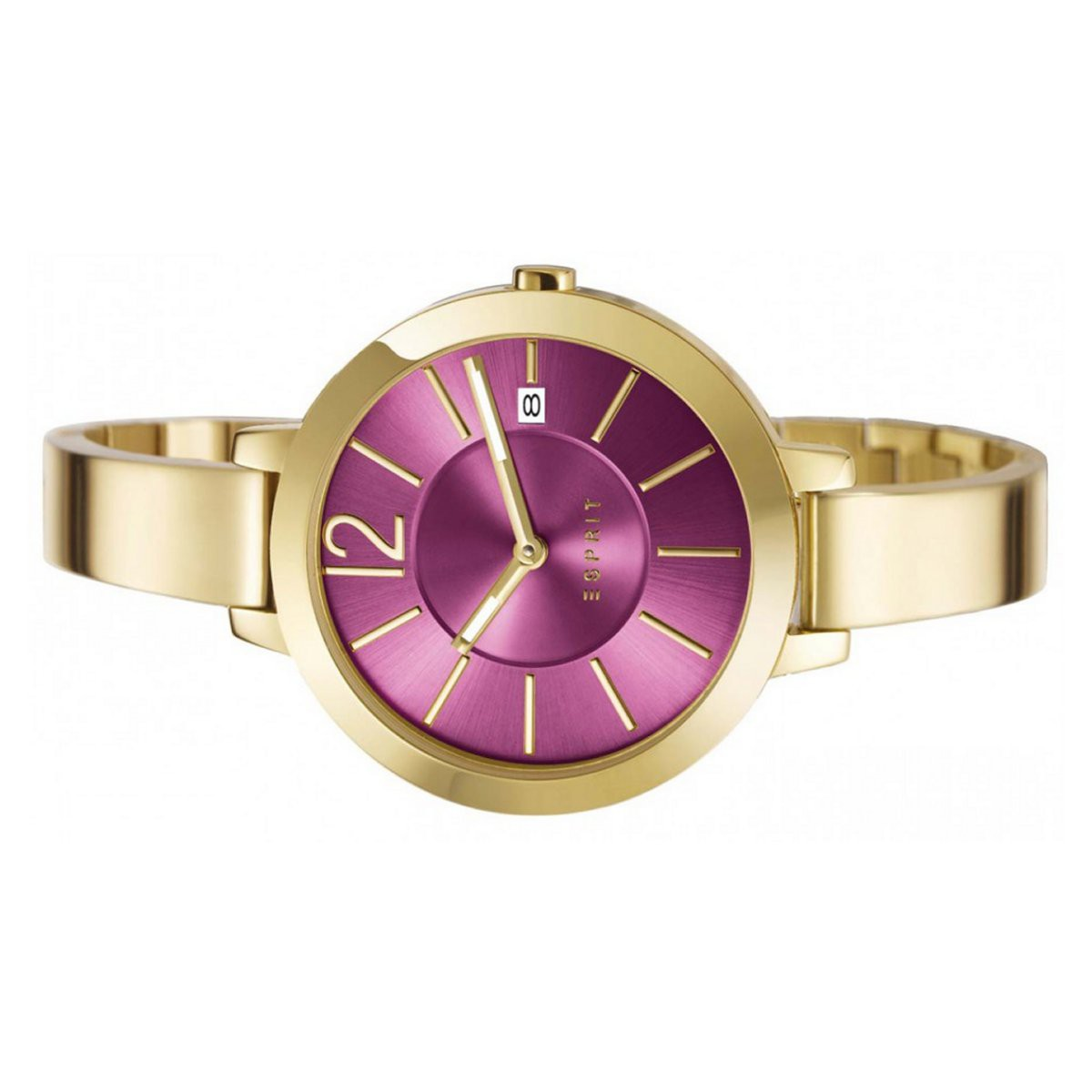 Esprit Uhr Edelstahl Gold Es107242004 Damen Amelia Armbanduhr Pnk0w8O