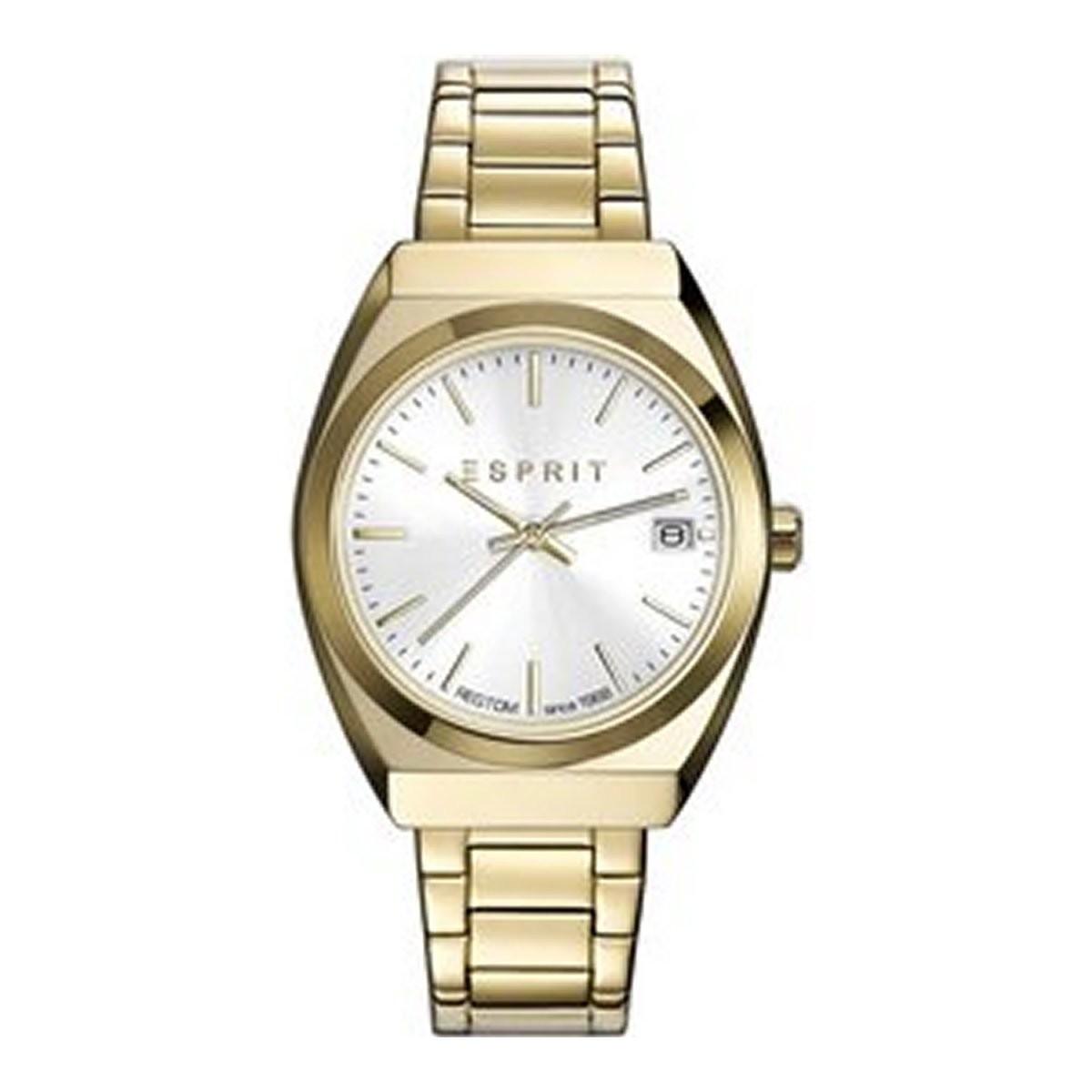 esprit damen uhr armbanduhr emily edelstahl gold es108522003. Black Bedroom Furniture Sets. Home Design Ideas