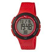 PumaUhr Armbanduhr Unisex Touch Red Black Digital PU911211002