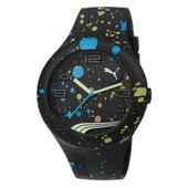 PumaUhr Armbanduhr Unisex Form Silikon PU103211021 Black Splash