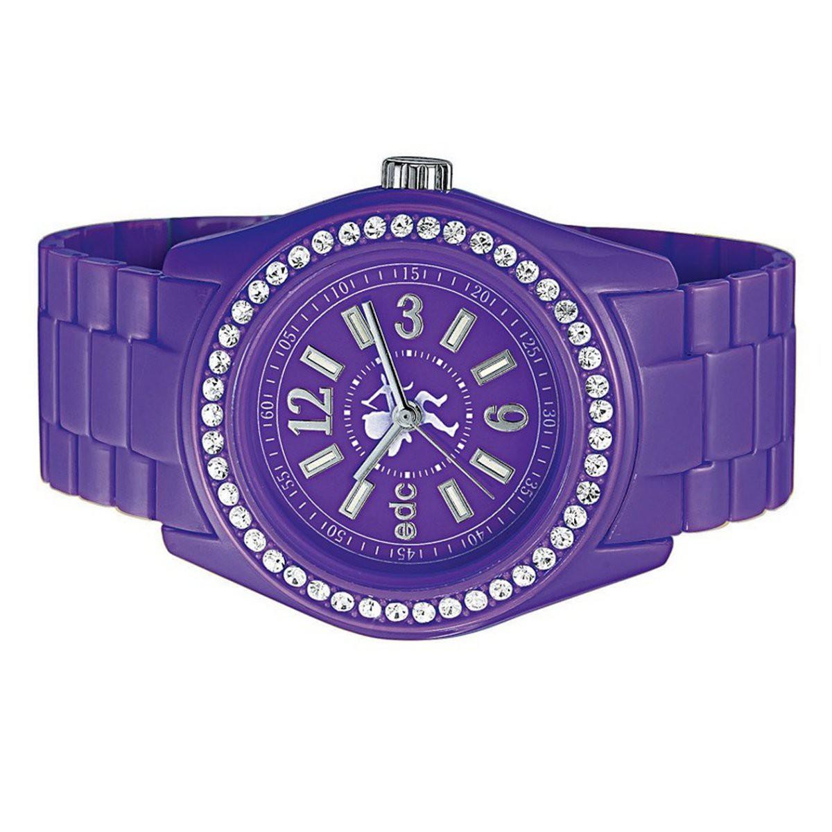 edc by esprit uhr armbanduhr damen discoglam crazy purple ee900172005. Black Bedroom Furniture Sets. Home Design Ideas