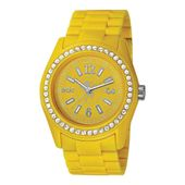 EDC by Esprit Uhr Armbanduhr Damen Discoglam Happy Yellow EE900172004