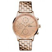 s.Oliver Damen Uhr Armbanduhr Edelstahl SO-3188-MM