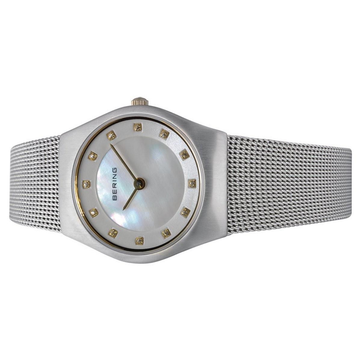 004 Damen Meshband Slim Bering Armbanduhr Classic Uhr 11927 ikZwOuPXT