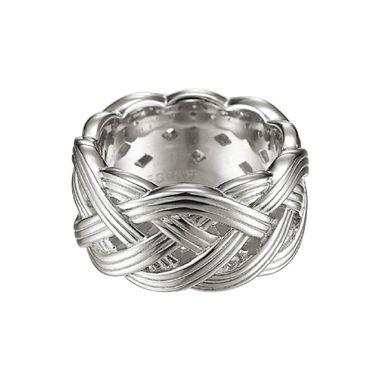 Esprit Damen Ring Silber Zirkonia Pure Rope ESRG91513A1