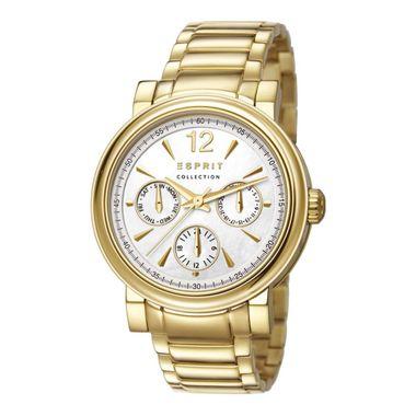 Esprit Collection Damen Uhr Armbanduhr Penia Edelstahl Gold EL102032F06