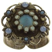 Konplott Ring Enchanted blue antique brass