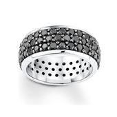 s.Oliver Jewel Damen Ring Silber Zirkonia schwarz SO638