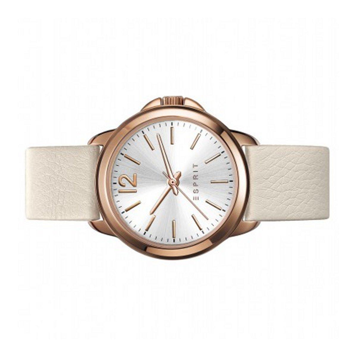 esprit damen uhr armbanduhr leder cream ros es109012005. Black Bedroom Furniture Sets. Home Design Ideas