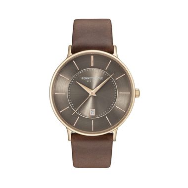Kenneth Cole New York Herren Uhr Armbanduhr Leder KC15097003