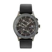 Kenneth Cole New York Herren Uhr Armbanduhr Chronograh Leder KC15101002