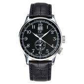 Carl von Zeyten Herren Uhr Armbanduhr Quarz Etterlin CVZ0006BK