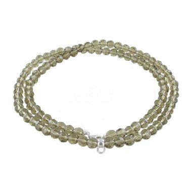 Esprit Damen Kette Collier Charm Silber Taupe Stones ESNL91755I800