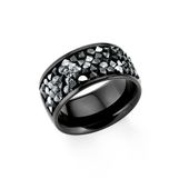 s.Oliver Jewel Damen Ring Edelstahl IP Black 201857