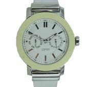 Esprit Damen Uhr Armbanduhr Loft white Silikon ES105622002