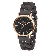 s.Oliver Damen Uhr Armbanduhr Silikon SO-3421-PQ