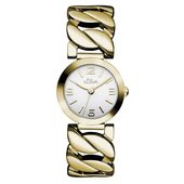 s.Oliver Damen-Armbanduhr Analog Quarz IP Gold SO-15126-MQR