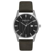 Kenneth Cole New York Herren-Armbanduhr Analog Quarz Leder KC15204002