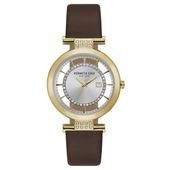 Kenneth Cole New York Damen-Armbanduhr Analog Quarz Leder KC15005006