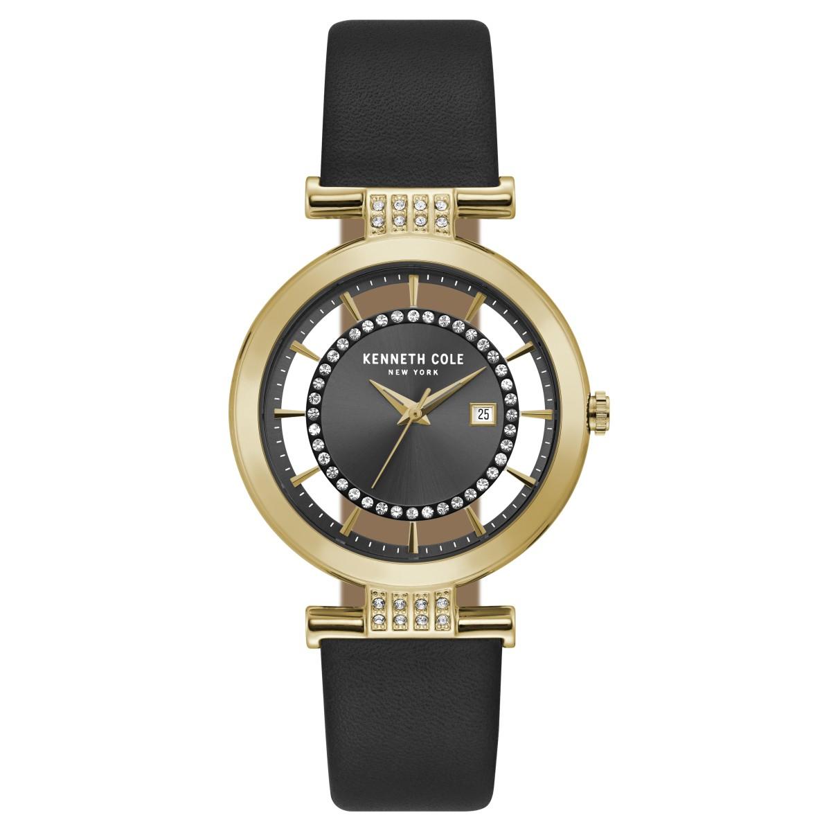 Kenneth-Cole-New-York-Damen-Armbanduhr-Analog-Quarz-Leder-KC15005008