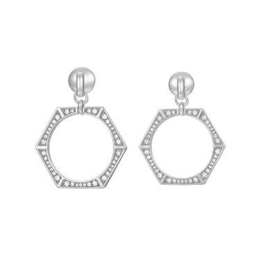 Joop Damen Ohrringe Silber Zirkonia EDGED JPER90351A000