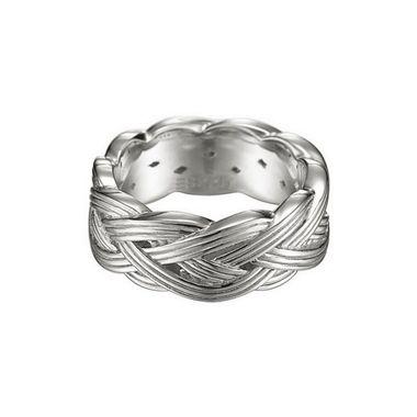 Esprit Damen Ring Silber Pure Rope ESRG91574A1