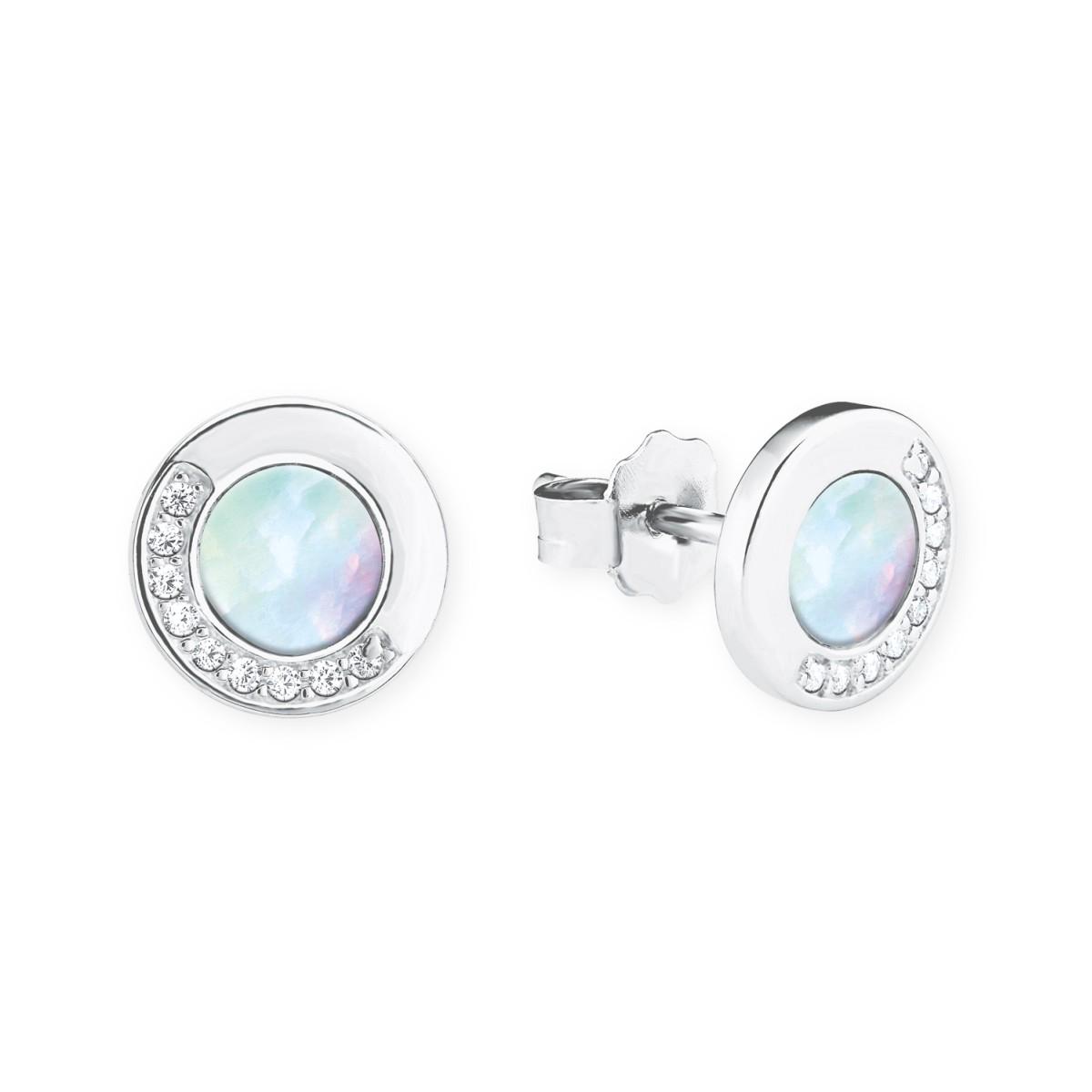 Dauerhafter Service riesige Auswahl an heiße neue Produkte s.Oliver Jewel Damen Ohrringe Silber Zirkonia Perlmutt 2020979