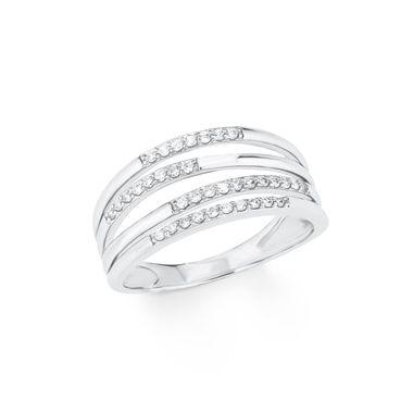 s.Oliver Jewel Damen Ring Silber Zirkonia 202104