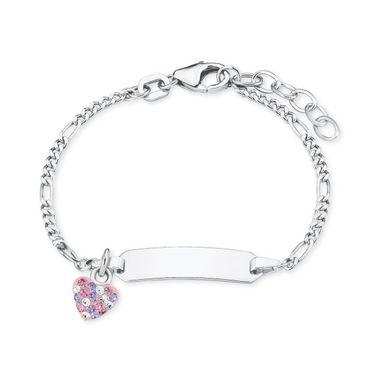 Prinzessin Lillifee Kinder Armband Ident-Armband Silber Herz 2021115