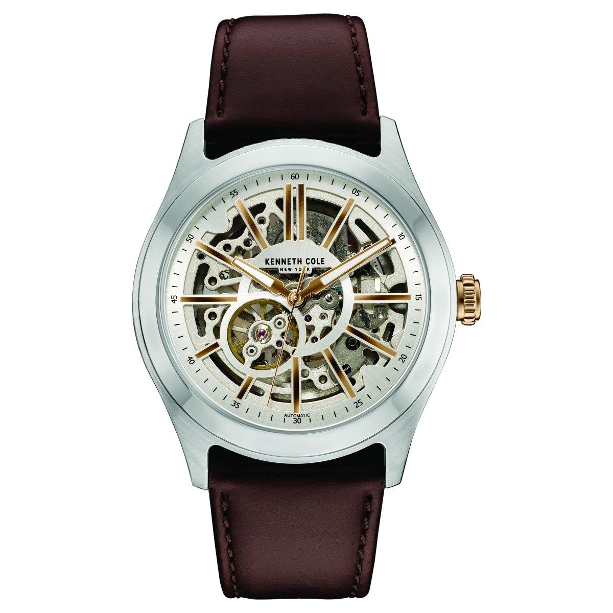 Armbanduhr Herren Automatik Cole Leder New 10030814 York Kenneth UzGqSpMV