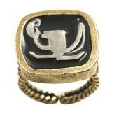 Konplott Ring Zodiac Cancer/Krebs black antique brass