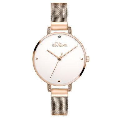 s.Oliver Damen Uhr Armbanduhr Edelstahl SO-3552-MQ