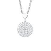 s.Oliver Jewel Damen Kette Halskette Silber Zirkonia 2022732 Münze