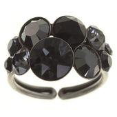Konplott Ring Petit Glamour black silber