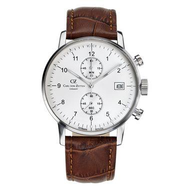 Carl von Zeyten Herren Uhr Armbanduhr Quarz Eisenbach CVZ0007WH
