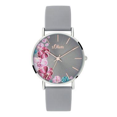 s.Oliver Damen Uhr Armbanduhr Silikon SO-3707-PQ