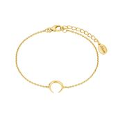 s.Oliver Jewel Damen Armband Silber goldfarben Büffelhorn 2024315