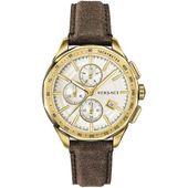 Versace Herren Uhr Armbanduhr Chronograph GLAZE Leder VEBJ00418