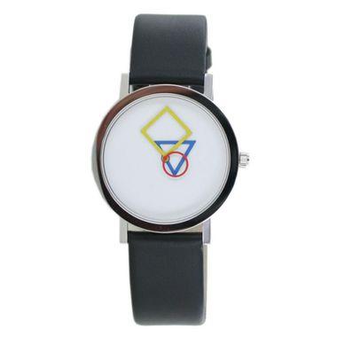 Aristo Bauhaus Damen Uhr Edelstahl 4D85S Leder schwarz