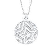 s.Oliver Jewel Damen Kette Halskette Silber Zirkonia Stern 2026092