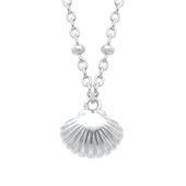 s.Oliver Jewel Damen Kette Halskette Silber Muschelanhänger 2026114