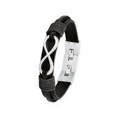 s.Oliver Jewel Herren Armband Edelstahl Leder Infinity 2026136