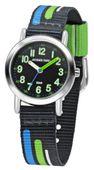JACQUES FAREL Kinder-Armbanduhr Analog Quarz Jungen Textilband KPS 403 blau