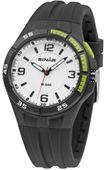 SINAR Jugenduhr Armbanduhr Analog Quarz Silikonband XB-38-1 schwarz / grün