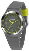SINAR Jugenduhr Armbanduhr Analog Quarz Jungen Silikonband XB-48-1 grau gelb