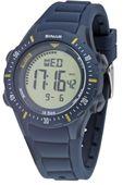 SINAR Jugenduhr Armbanduhr Digital Quarz Unisex Silikonband XR-12-2 blau